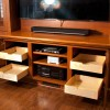 White Oak Entertainment Center, Mantel and Paneling