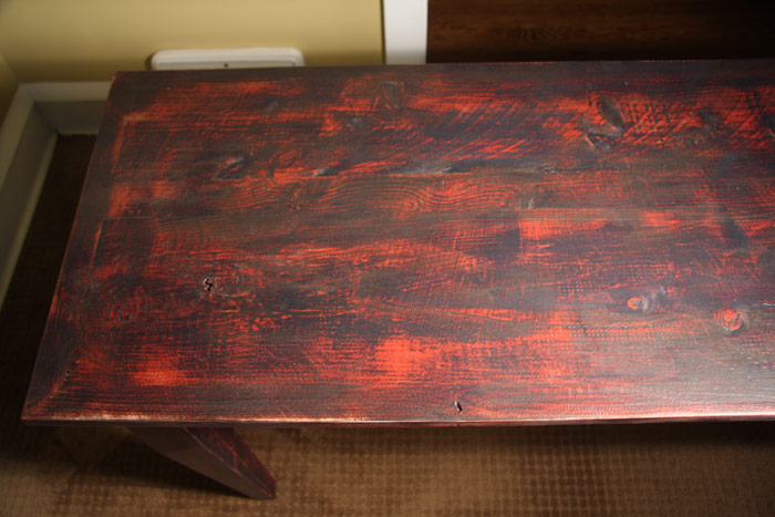 Shaker Orchard/ Work Table with Distressed Paint Finish