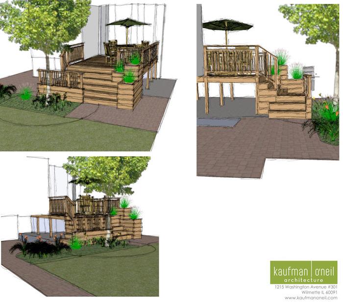 Cedar Deck with Planter Boxes