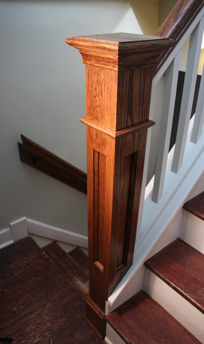 Red Oak Handrails And Newel Post 171 Edgewater Woodwork