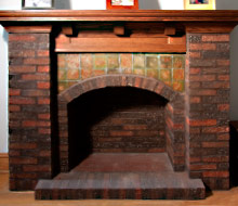 White Oak Mantel Top and Panel with Corbels