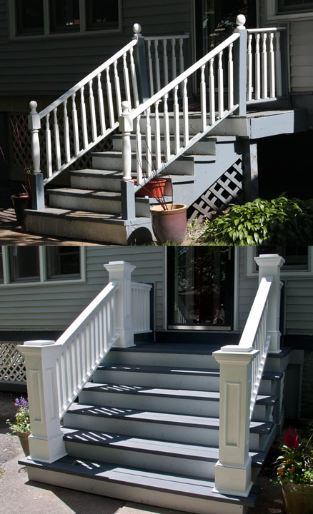 Edgewater Front Porch Rails And Newel Posts 171 Edgewater
