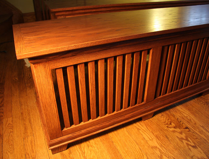 Craftsman Style Oak Radiator Cover/ Window Seats