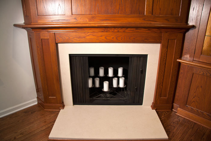White Oak Mantel with Paneling