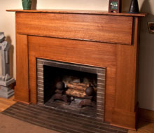 Rift Sawn Red Oak Craftsman Style Mantel