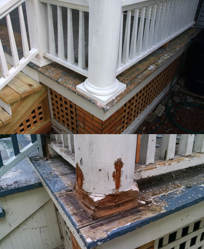 Edgewater Glen Front Porch Restoration