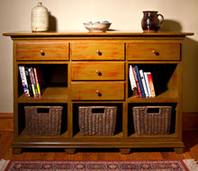 Shaker Sideboard With Distressed Finish