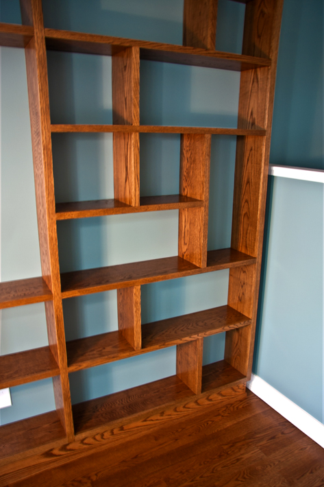 post modern bookcase edgewater woodwork