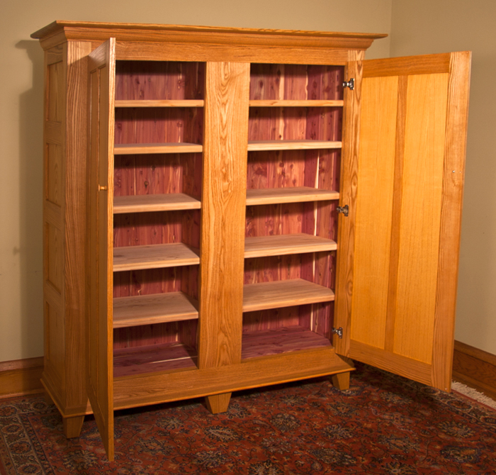 Shaker Ash Cabinet with Aromatic Cedar Interior
