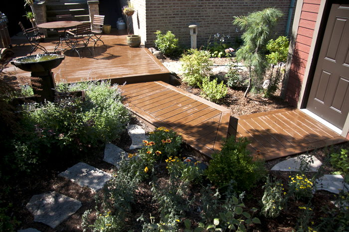 Trex Backyard Deck and Boardwalk
