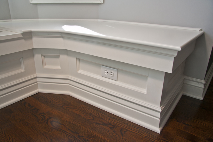 Living Room Bay Craftsman Window Seat