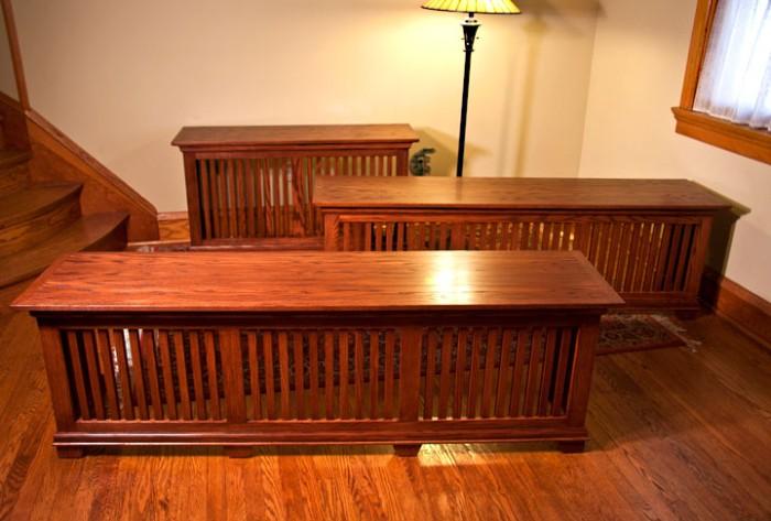 Terrific Craftsman Style Oak Radiator Cover Window Seats Edgewater Machost Co Dining Chair Design Ideas Machostcouk