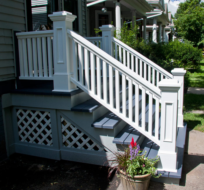 Edgewater Front Porch Rails And Newel Posts